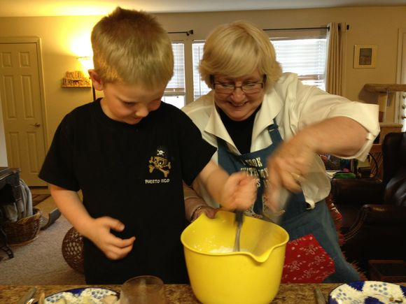 Grammy Nancy & Charlie whipping cream